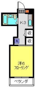 赤門第2ハイツ3階Fの間取り画像