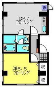 武蔵小杉駅 徒歩6分2階Fの間取り画像