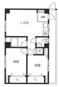 グランジール西片3階Fの間取り画像