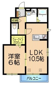 王子神谷駅 徒歩15分2階Fの間取り画像