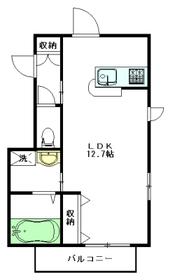 ノーブルヴィラージュ城山2階Fの間取り画像