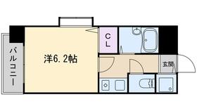 ライオンズマンション西新第510階Fの間取り画像