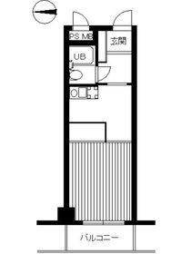 スカイコート市ヶ谷3階Fの間取り画像