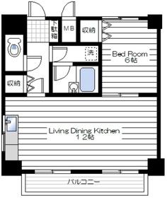 鎧橋ビル3階Fの間取り画像