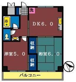 ピュアタウン北本町1階Fの間取り画像