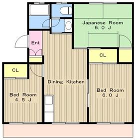 さがみ野東洋マンション1階Fの間取り画像