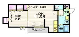 ホーミィ大井町 (ペット共生)3階Fの間取り画像