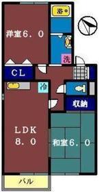 パストラル弐番館2階Fの間取り画像