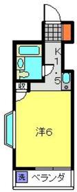 菊名駅 徒歩33分2階Fの間取り画像