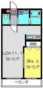 ザ・ファルティ横濱岡村1階Fの間取り画像