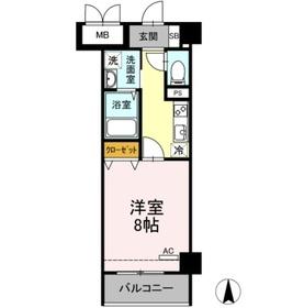 メゾンシルキー4階Fの間取り画像