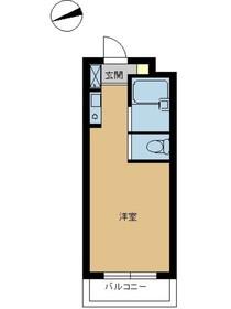 スカイコート西川口第91階Fの間取り画像
