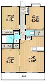 グランシャリオ湘南1階Fの間取り画像