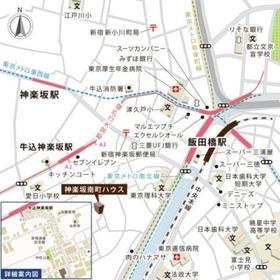 神楽坂南町ハウス案内図