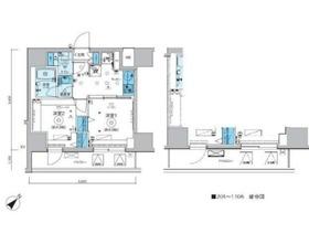 リヴシティ横濱関内弐番館10階Fの間取り画像