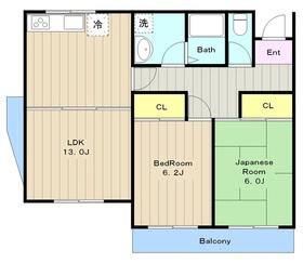 プリマヴェラ五月台3階Fの間取り画像