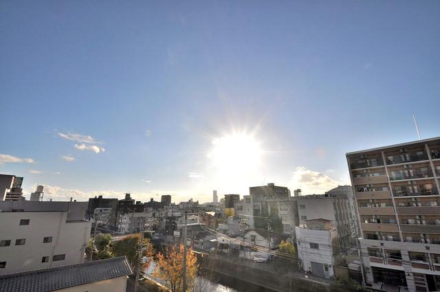 エグゼ大阪城東 この見晴らしが日当たりのイイお部屋を作ってます。