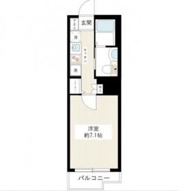 ライジングプレイス桜木町弐番館7階Fの間取り画像