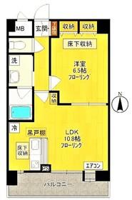 ソレイユハイム1階Fの間取り画像
