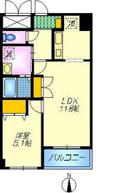 ベイコート東品川3階Fの間取り画像