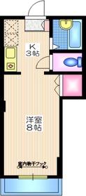 ペルシュ奥沢3階Fの間取り画像