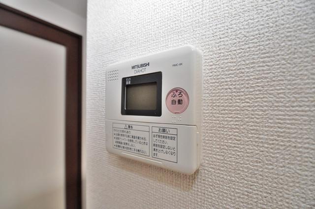 コート グランシャリオ 給湯リモコン付。温度調整は指1本、いつでもお好みの温度です.