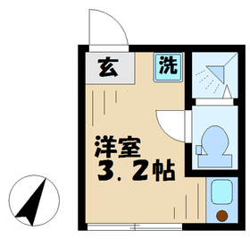 テラス永山1階Fの間取り画像