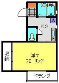 トゥニールメゾン2階Fの間取り画像