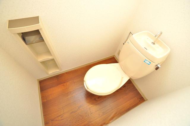 ブリエール布施A棟 清潔感のある爽やかなトイレ。誰もがリラックスできる空間です。