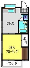 エクセルオカザワ1階Fの間取り画像