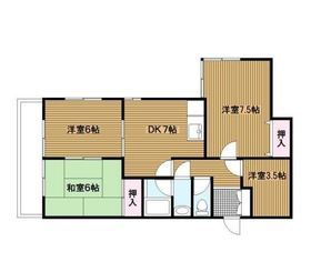 蒔田駅 徒歩2分4階Fの間取り画像