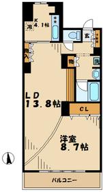 若葉台駅 徒歩1分2階Fの間取り画像