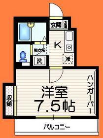 エクセル中野坂上2階Fの間取り画像