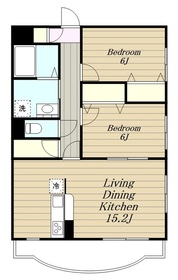 ニューシャルマン2階Fの間取り画像