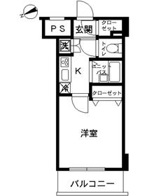 スカイコートヴィーダ五反田WEST4階Fの間取り画像