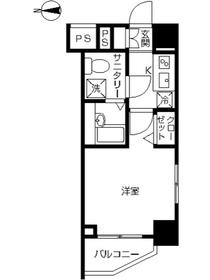 スカイコート川崎西口8階Fの間取り画像
