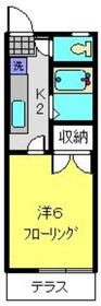 ビューハイム岡本1階Fの間取り画像