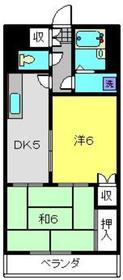 トリムパークマンション2階Fの間取り画像