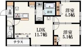 西武柳沢駅 徒歩32分1階Fの間取り画像