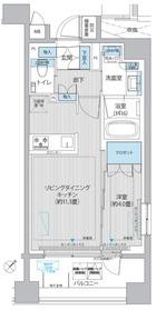 イニシア築地レジデンス8階Fの間取り画像
