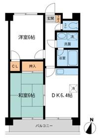 日宝コートヒルズ洋光台Ⅱ3階Fの間取り画像