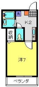 フルール2階Fの間取り画像