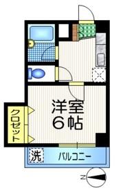 下北沢駅 徒歩4分3階Fの間取り画像