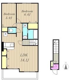 サニーグレイス2階Fの間取り画像
