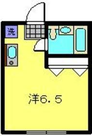 滝澤ハイツ2階Fの間取り画像