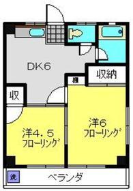 トキワダイマンション3階Fの間取り画像