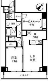 ベイサイドハウス6階Fの間取り画像