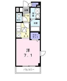 リブェールSHINOⅡ1階Fの間取り画像
