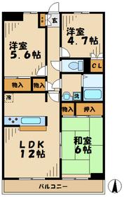 ステータスヒル寿岳5階Fの間取り画像