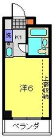 クリオ新子安ファースト9階Fの間取り画像